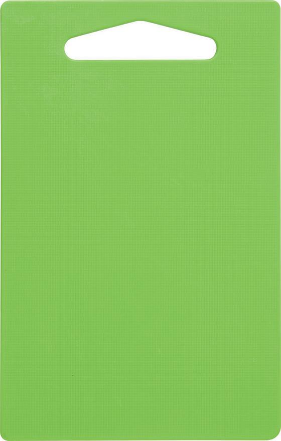 Schneidebrett Jim - Gelb/Weiß, KONVENTIONELL, Kunststoff (24,9/0,5/16cm) - Homezone