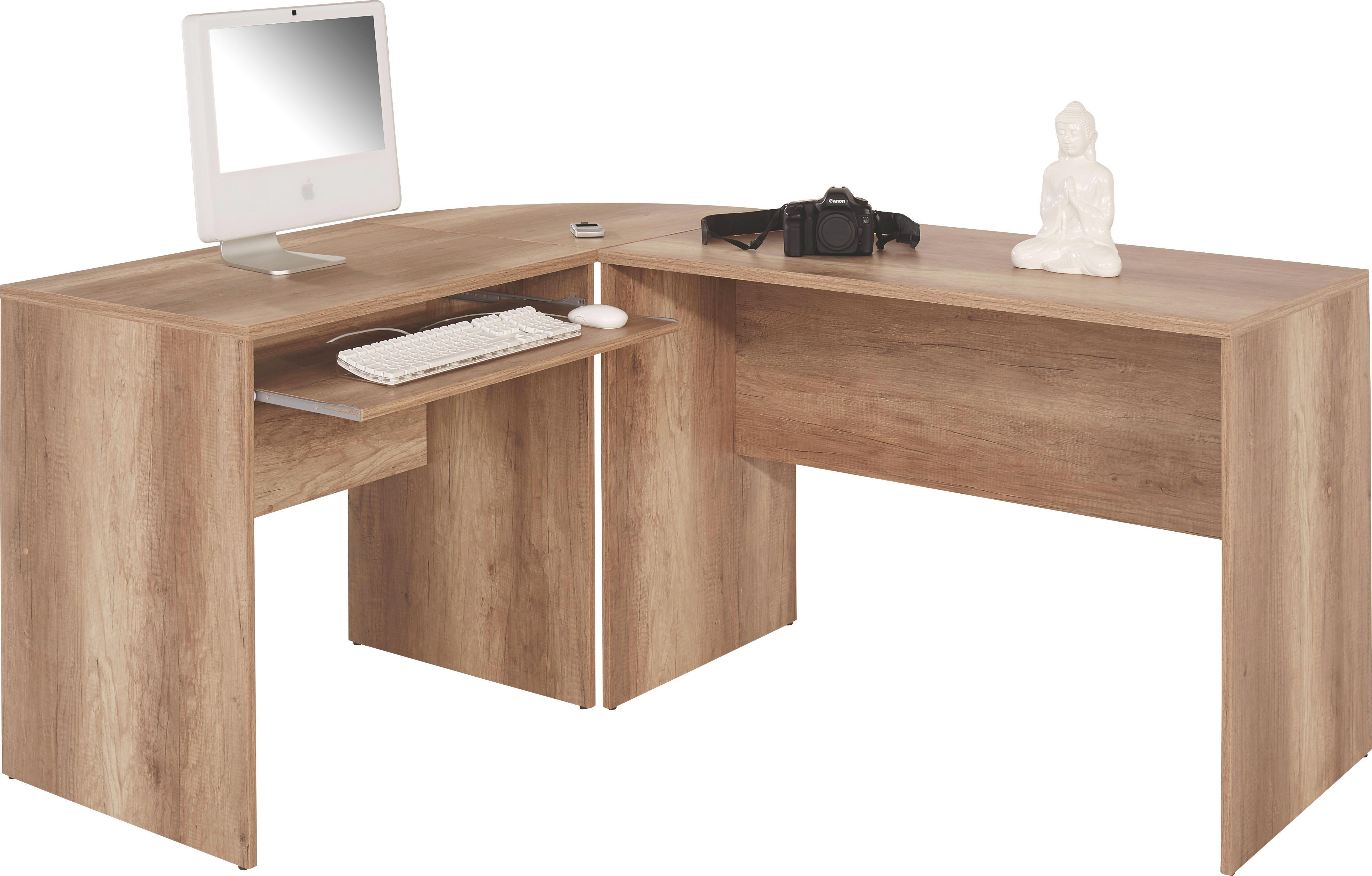 Sarok-íróasztal 4-you - tölgy színű, modern, faanyagok (174/78/139cm)