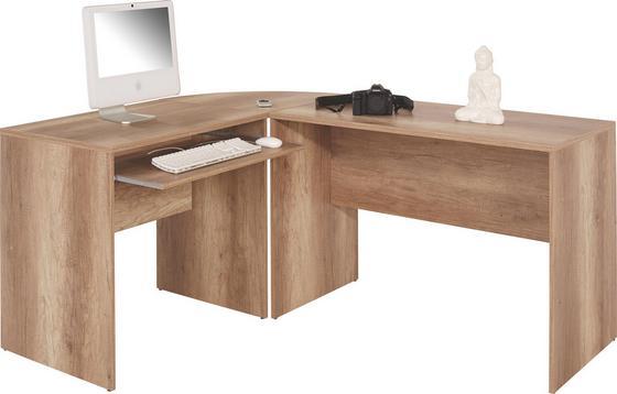 Sarok-íróasztal 4-you - Tölgyfa, modern, Faalapú anyag (174/78/139cm)