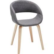 Stolička Jaqueline - svetlosivá, Moderný, drevo/textil (51/77/53cm) - MÖMAX modern living