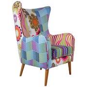Fernsehsessel Patchwork 73 cm - Multicolor/Naturfarben, MODERN, Textil (73/106/79cm)