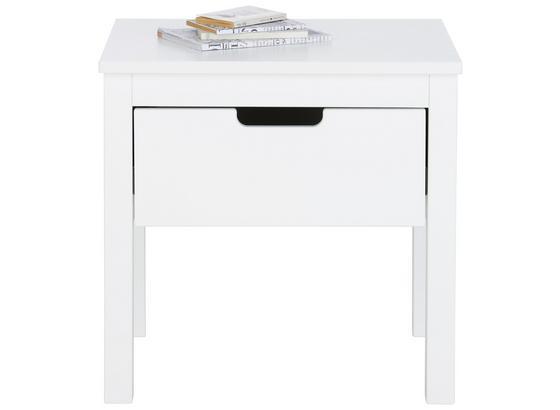 Nočný Stolík Lyon - biela, Romantický / Vidiecky, drevo (50/50/40cm) - Zandiara