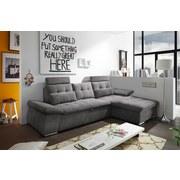Wohnlandschaft Nalo ca. 268x170 cm - Silberfarben/Grau, KONVENTIONELL, Holzwerkstoff/Textil (268/170cm) - Carryhome