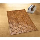 Badteppich Palito, 70x50cm - Braun, Basics, Holz (70/50/0,5cm) - Kleine Wolke
