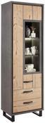 Vitrína Azara - farby smreku/tmavosivá, Štýlový, umelá hmota/kov (67/206/42cm) - Modern Living