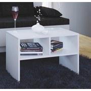 Couchtisch mit Ablagefächer Nachto Weiß - Weiß, Basics, Holzwerkstoff (63/40/30cm) - Livetastic