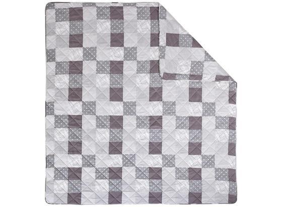 Tagesdecke Alina 220x240 cm - Weiß/Grau, ROMANTIK / LANDHAUS, Textil (220/240cm) - James Wood