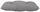 Sitzkissen Elli 38x38 cm - Grau, KONVENTIONELL, Textil (38/38/6cm) - Ombra