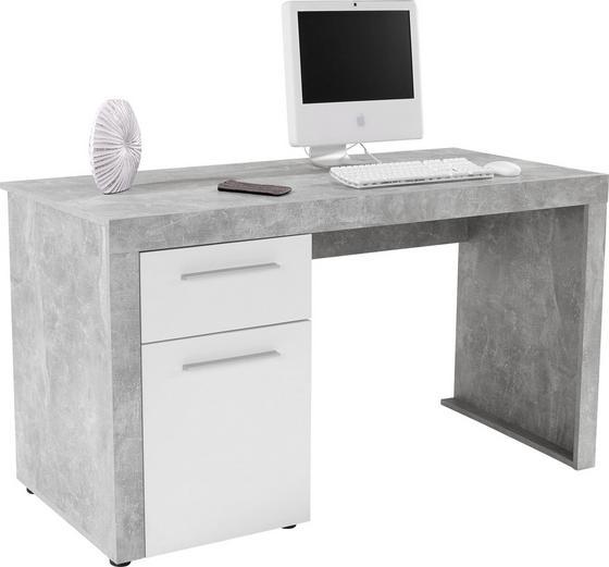 Íróasztal Focus - Szürke/Fehér, modern, Fa (148,9/75,5/60cm)