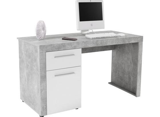 Písací Stôl Focus - sivá/biela, Moderný, drevo (148,9/75,5/60cm)