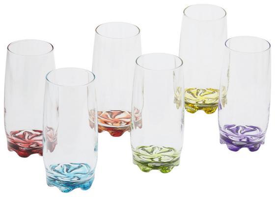 Longdrink-Glas Alison - Blau/Gelb, KONVENTIONELL, Glas - OMBRA