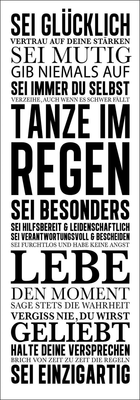 Keilrahmenbild Hausordnung I - Schwarz/Weiß, Holz/Holzwerkstoff (27/77/2cm)