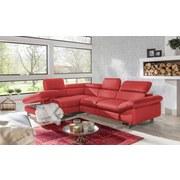 Wohnlandschaft Driver - Chromfarben/Rot, MODERN, Textil (214/266cm)