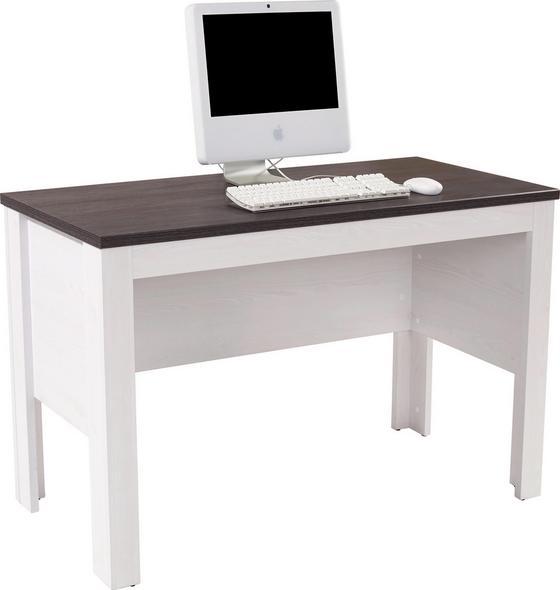 Íróasztal Provence - Vörösfenyő/Wenge, romantikus/Landhaus, Faalapú anyag (125/76/55cm)