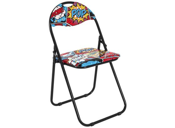 Kempingová Skládací Židle Comic -sb- - vícebarevná, Moderní, kov/umělá hmota (44/80/47cm)