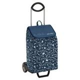 Einkaufstrolley Easy - Silberfarben/Dunkelblau, Textil/Metall (38,5/102/39cm)