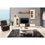 Obývacia Stena Bailamos - farby dubu/biela, Moderný, drevený materiál (235/199,1/41,6cm)