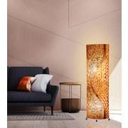 Stehleuchte Muschel - Braun, MODERN, Naturmaterialien/Textil (45/20/149cm)