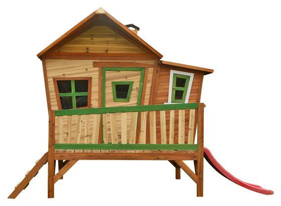 Domček Na Hranie Emma - hnedá, drevo (345/229/180cm)