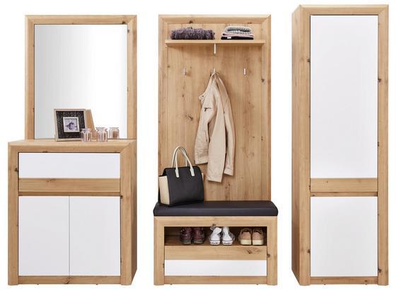 Šatník Kashmir New - farby dubu/biela, Moderný, kompozitné drevo (228/192/41cm) - James Wood