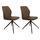 Stuhl-Set Grayson 2-Er Set Braun - Taupe/Hellbraun, LIFESTYLE, Textil/Metall (45/91/49cm) - Livetastic
