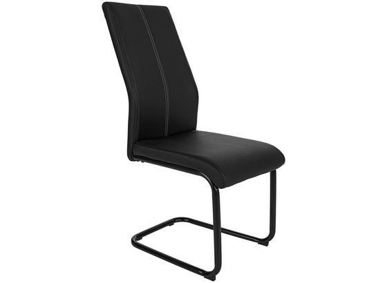 Stolička Daisy - čierna, Moderný, kov/textil (43/98/58cm)