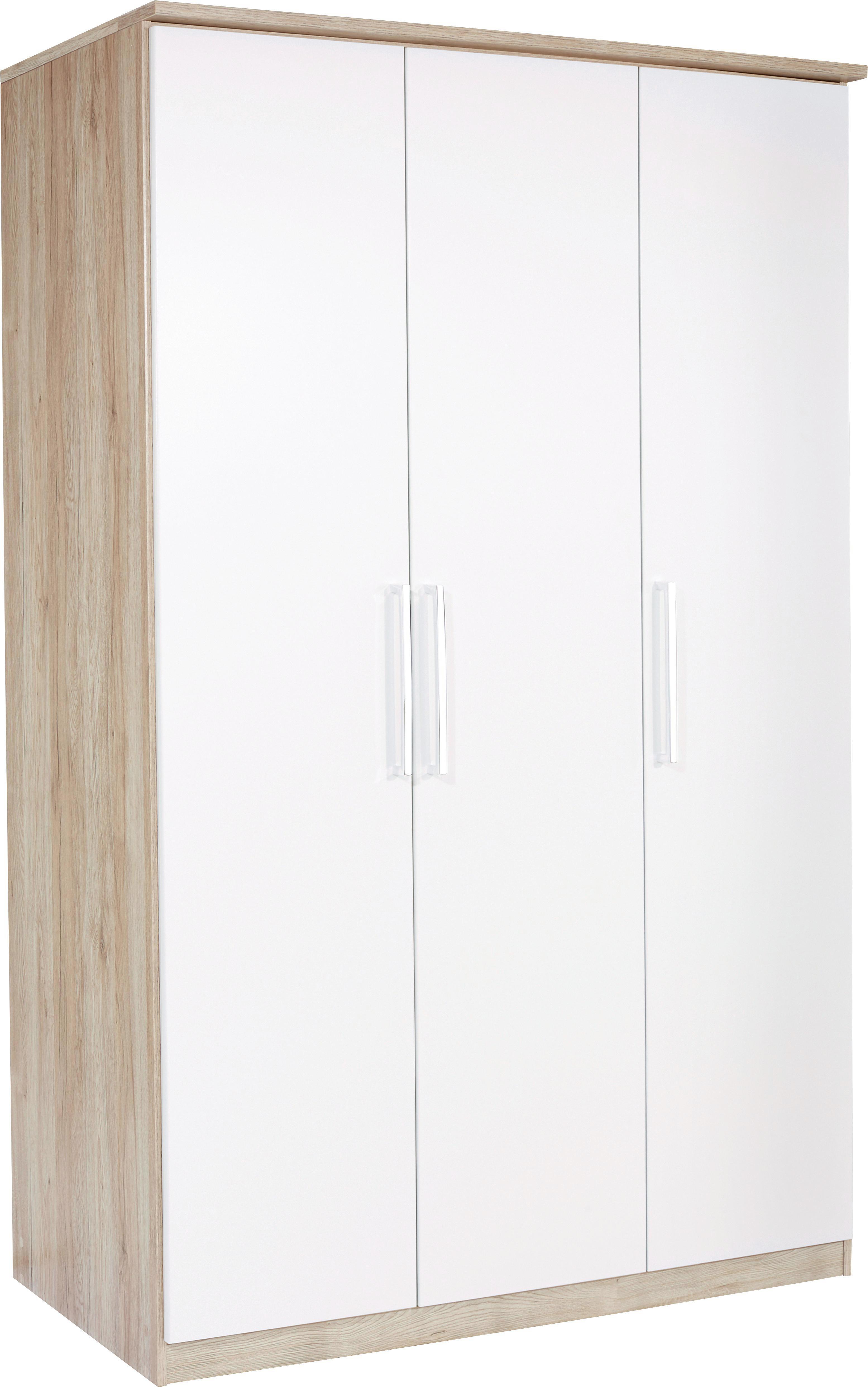Ruhásszekrény Wien - tölgy színű/fehér, konvencionális, faanyagok (136/212/56cm)