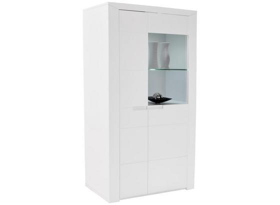 Vitrína Bree - bílá, Moderní, kompozitní dřevo (95/159/37,7cm)