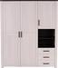Ruhásszekrény Provence - Lucfenyő/Vörösfenyő, romantikus/Landhaus, Faalapú anyag (166/200/60cm)