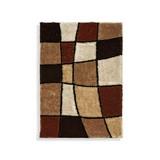 Hochflor Teppich Braun/Beige Fancy 160x230 cm - Beige/Braun, KONVENTIONELL, Textil (160/230cm) - Luca Bessoni