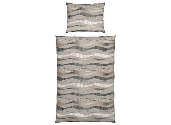 Bettwäsche Kenisha - Grau, KONVENTIONELL, Textil - Ombra