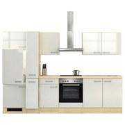 Küchenblock Abaco 300 cm Perlmutt - Edelstahlfarben/Perlmutt, MODERN, Holzwerkstoff (300/60cm)