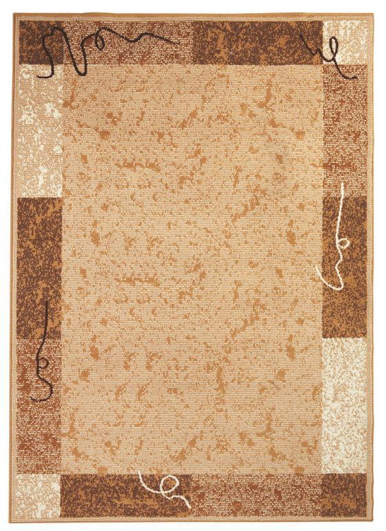 Webteppich mit Bordüre - Creme, KONVENTIONELL, Textil (160/225cm) - Ombra