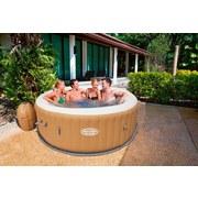 Bestway Whirlpool Lay-z-spa Palm Springs - Hellbraun/Weiß, KONVENTIONELL, Kunststoff (196/71cm) - BESTWAY