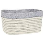 Aufbewahrungskörbchen Alfie - Braun/Weiß, Basics, Textil (23/14/12cm) - Luca Bessoni