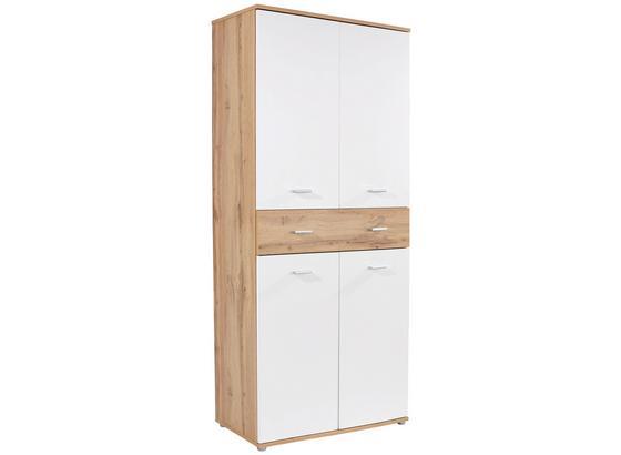 b7bfdbe4bc14b Skrinka Na Topánky Köln Xr 2 - farby dubu/biela, Moderný, kompozitné drevo