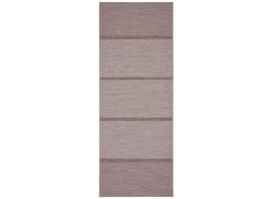 Hladko Tkaný Koberec Kate 1 - orgovánová/biela, Moderný, textil (80/200cm) - Modern Living