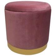Hocker Velvet - Goldfarben/Rosa, MODERN, Holzwerkstoff/Textil (35/35/35cm)