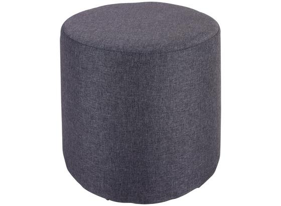 Taburetka Leo *cenový Trhák* - sivá, Basics, drevo/textil (33/33cm)