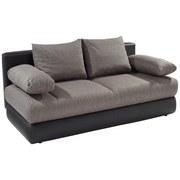 Schlafsofa Clipso - Hellgrau/Schwarz, MODERN, Textil (212/93/90cm) - OMBRA