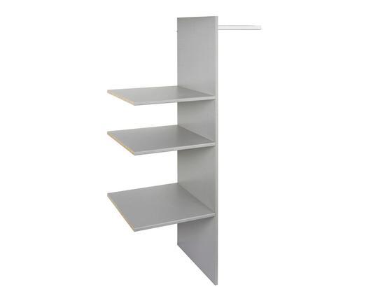 VNITŘNÍ ČLENĚNÍ KATRIN/CORDOBA/ANNA/FLY - šedá, dřevo (87/150/50cm)