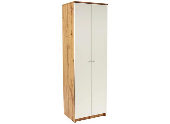 Skrinka Na Topánky Kv05 - farby dubu/biela, Moderný, kompozitné drevo (62,4/179,1/35,4cm)