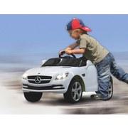 Kinderauto Ride-On Mercedes Skl Weiß - Silberfarben/Schwarz, Basics, Kunststoff (110,5/63/44cm)