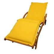 Liegenauflage Premium B: 62 cm Gelb - Gelb, Basics, Textil (62/8-9/195cm) - Ambia Garden