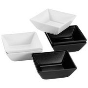 Schüsselset Manhattan City 6-Tlg. - Schwarz/Weiß, Basics, Keramik (40/30/20cm)