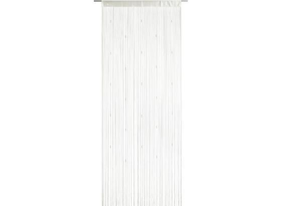 Provázková Záclona Perle -top- - bílá, Romantický / Rustikální, textil (90/245cm) - Mömax modern living
