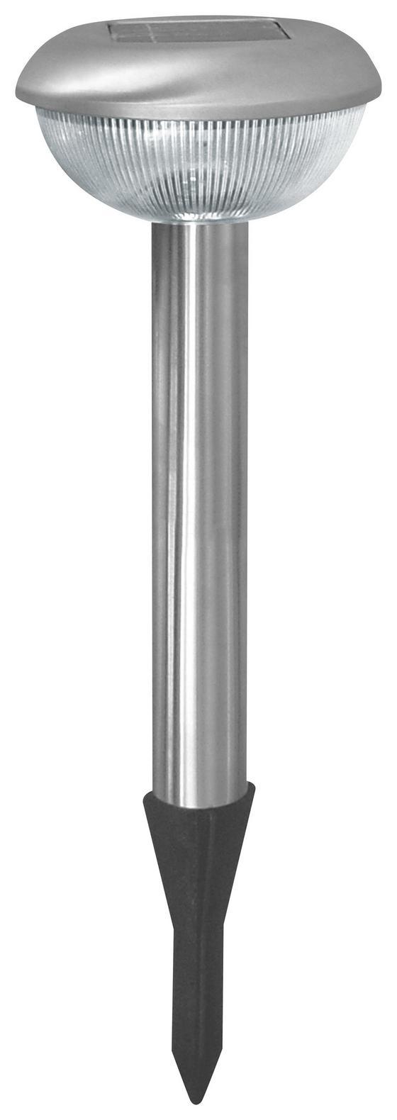 Solarleuchte Anna - Silberfarben, KONVENTIONELL, Kunststoff/Metall (11,5/39cm) - Homezone