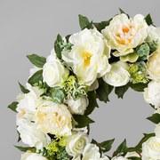Kranz Rosenkranz D: 62 cm Weiß - Weiß, Trend, Kunststoff (62cm) - MID.YOU