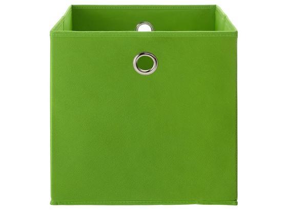 Skladací Box Fibi -ext- -top-based- - zelená, Moderný, kartón/kov (30/30/30cm) - Based
