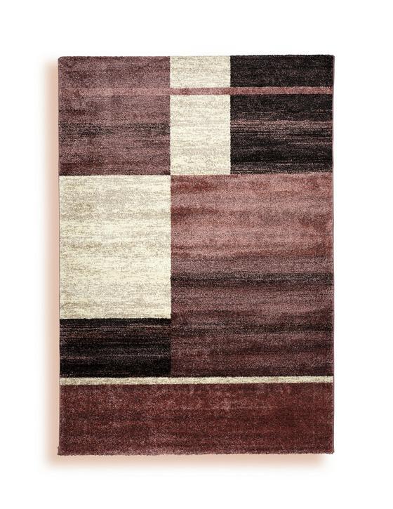 Webteppich Alice 120x170 cm - Aubergine/Creme, Textil (120/170cm) - Ombra